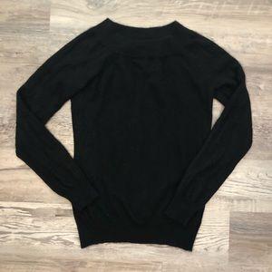 Ralph Lauren 100% Cashmere Black Long Sleeve Top